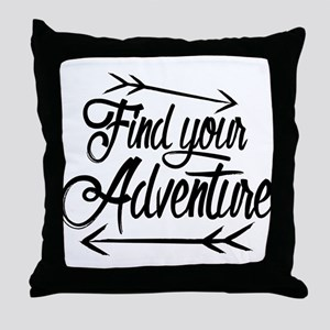 Find Adventure Throw Pillow